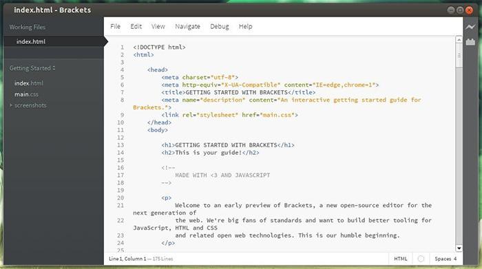 Adobe Brackets, en gratis kodredigerare som förenklar kodande