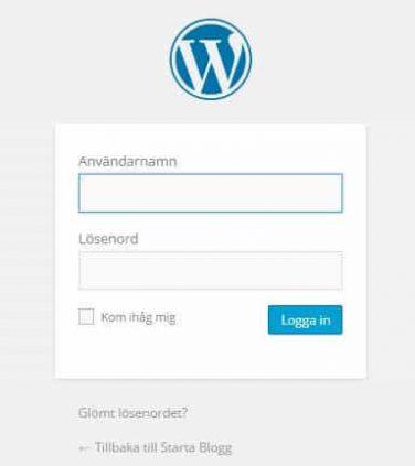 Hemsida med WordPress